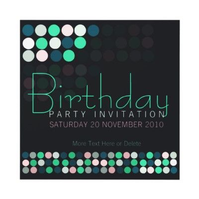 Art sold house party lights stylish birthday invitations from art sold house party lights stylish birthday invitations from paperstation filmwisefo Choice Image