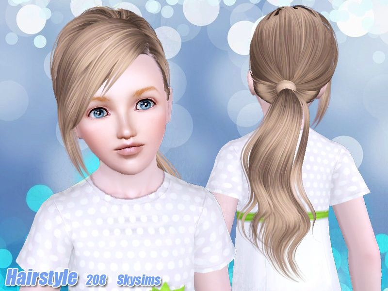 Skysims Hair Child 208k TS3 CC Sims 4 toddler
