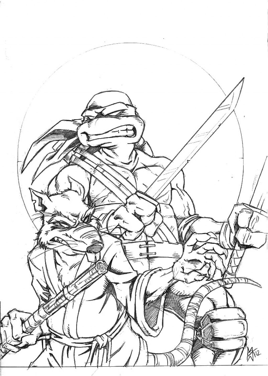 Teenage Mutant Ninja Turtles Printable Coloring Pages | Pinterest ...