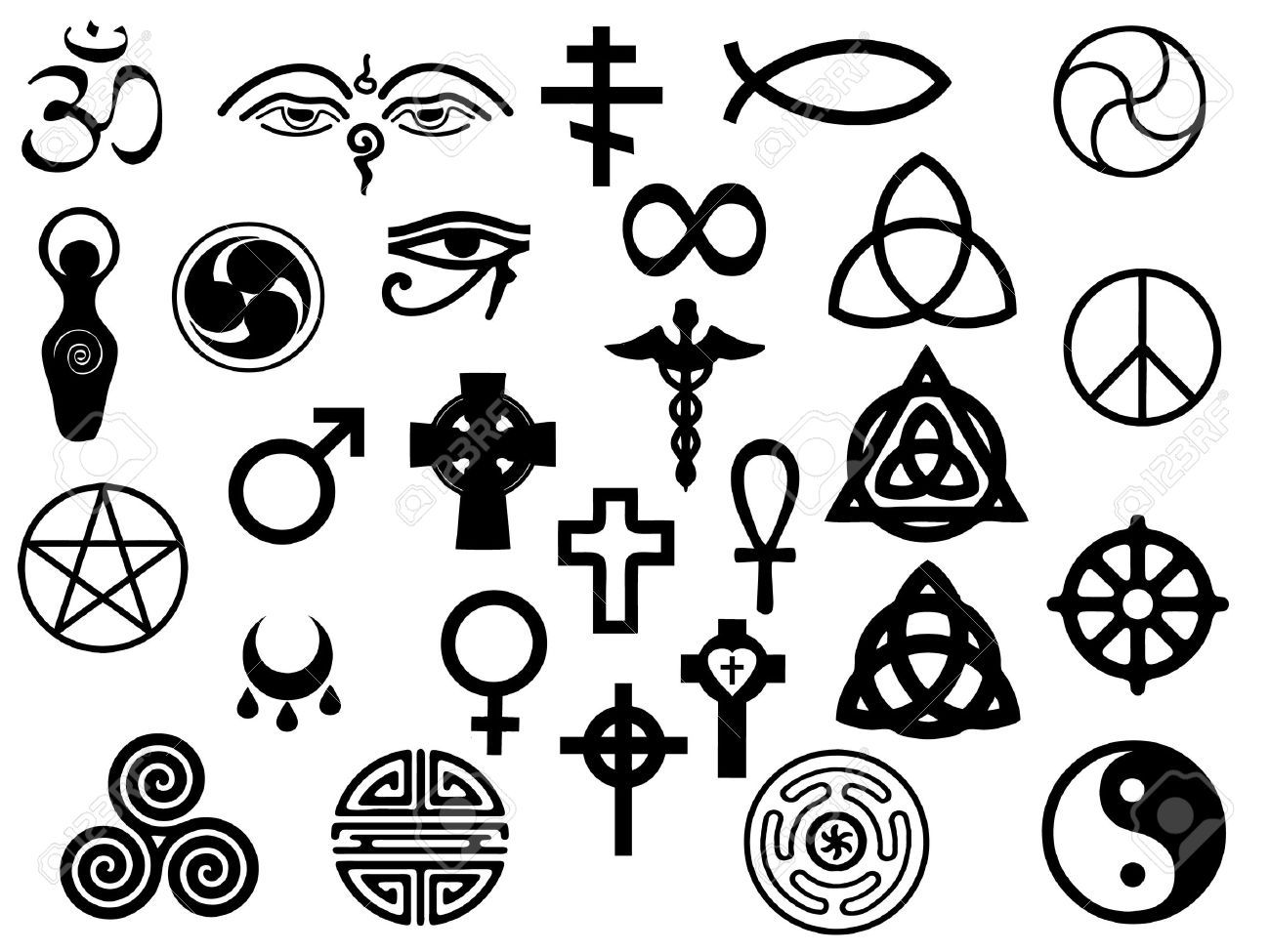 Vectors Of Sacred And Healing Symbols For Use In Artwork And ...
