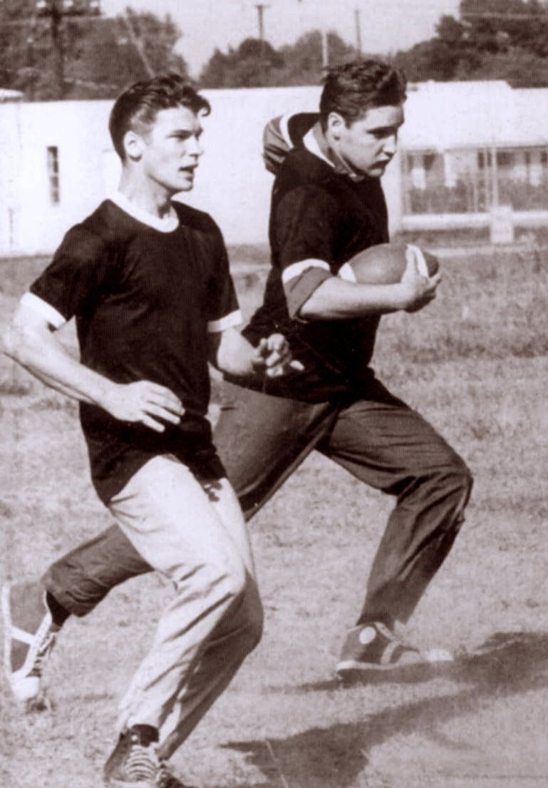 Elvis Playing Touch Football In Memphis With Friends In -3786