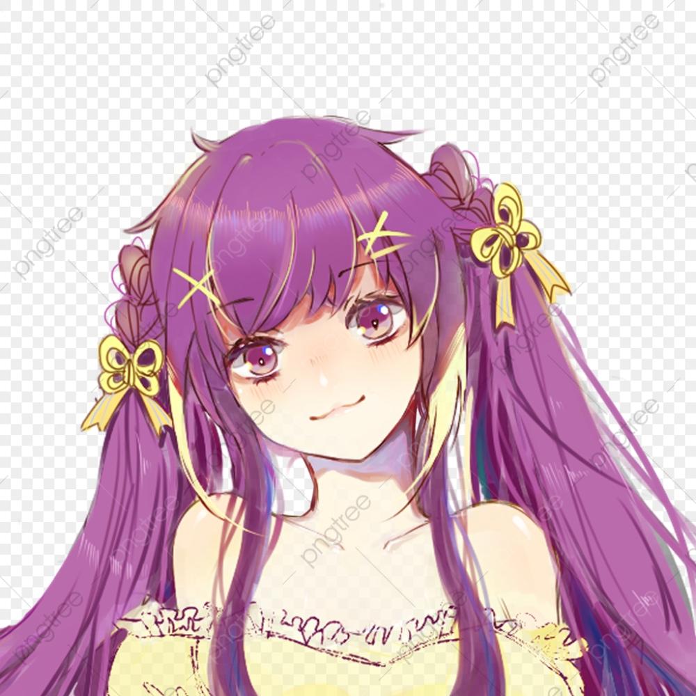 Google Image Result For Https Www Pngitem Com Pimgs M 528 5281001 Anime Purple Blue Blueeyes Purplehair Ca In 2020 Purple Hair Girl With Purple Hair Cartoon Clip Art