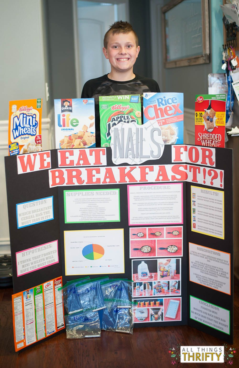 first place elementary school science fair project! | science