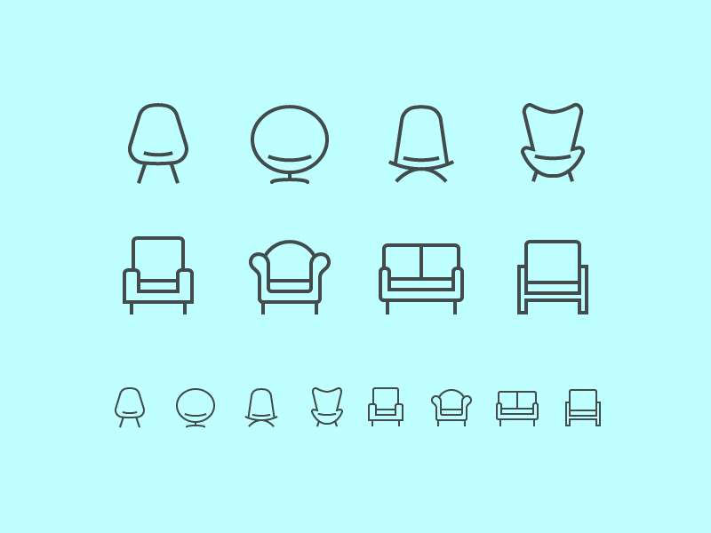 It's time for some furniture icons! Check @2x!  Check also previous hardware…