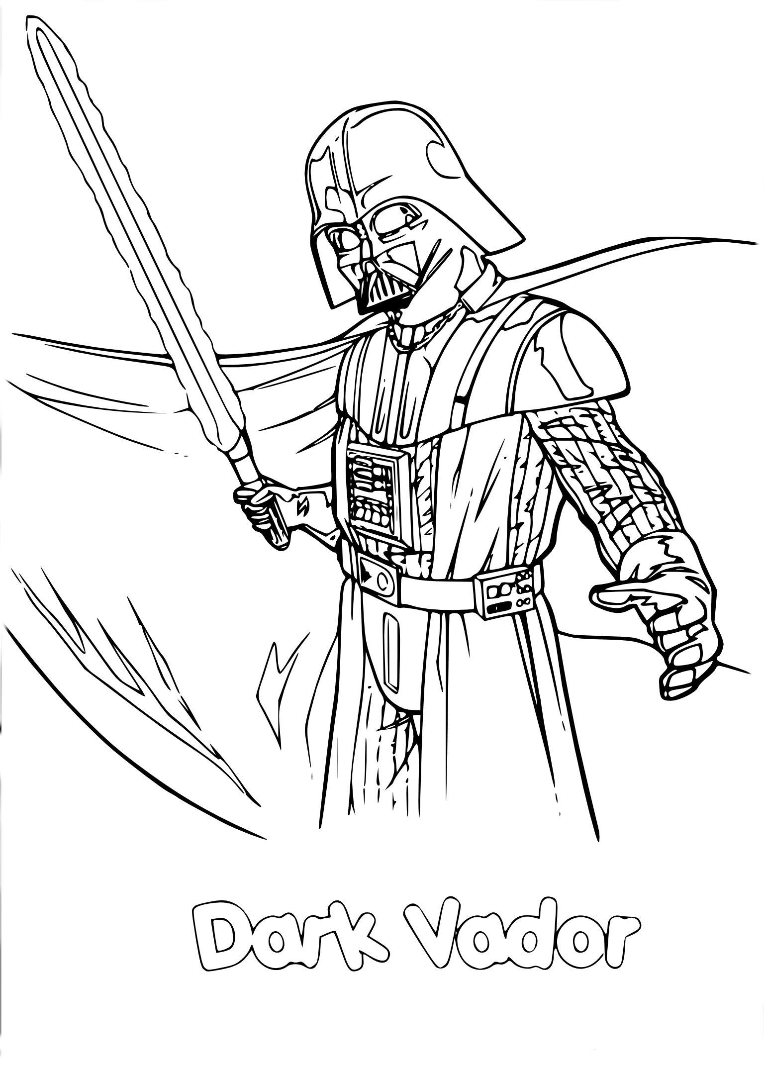 Coloriage Star Wars Dark Vador | Coloriage star wars, Coloriage, Dessins star wars