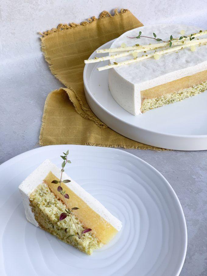 Mango Cake | Moussekage | crumbsbytanja #kageideer