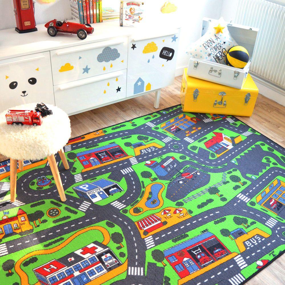 tapis de jeux circuit de voitures ville