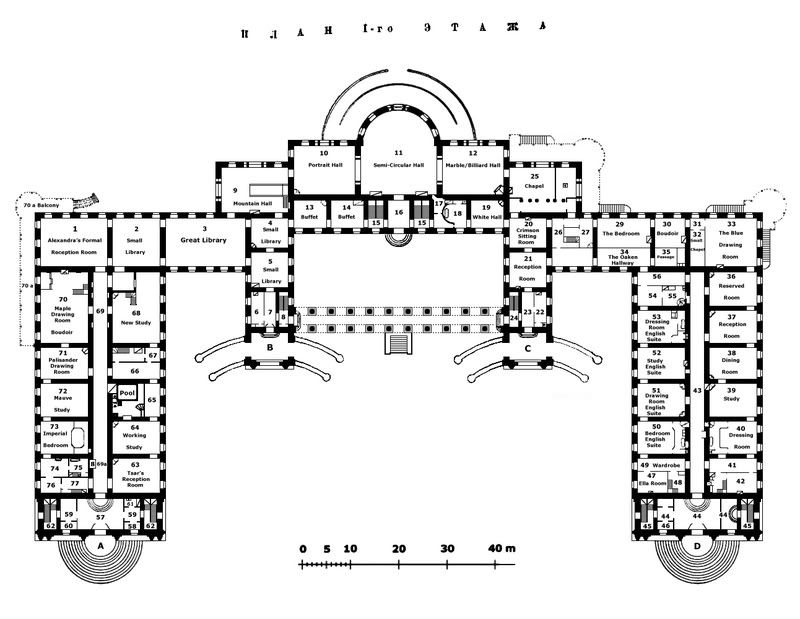 Alexander palace 800 619 plans for Palace plan