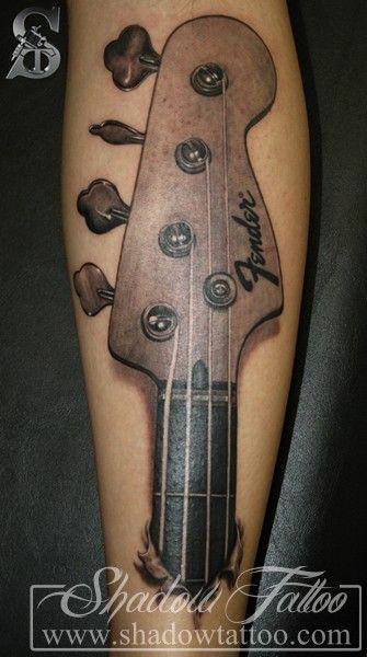Bass Guitar Tattoo : guitar, tattoo, Guitar, Tattoo, Google, Zoeken