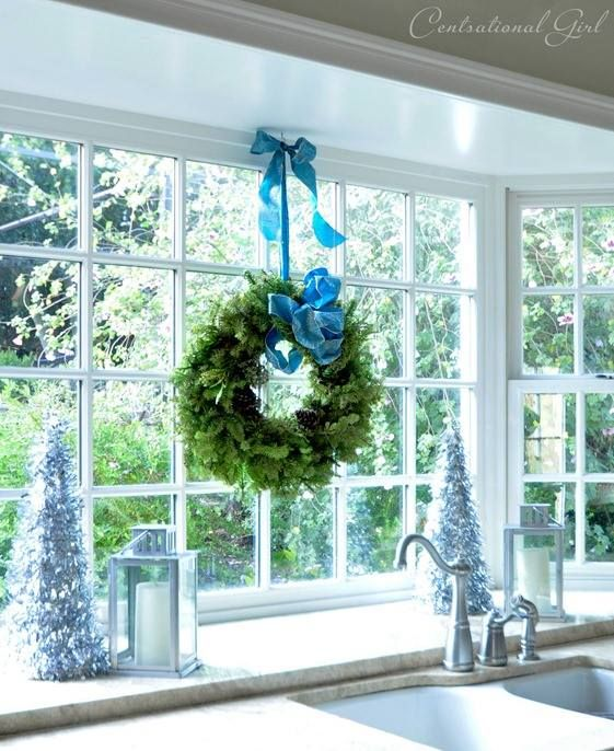 Hang Wreath Above Kitchen Sink Home Decorating Finishing