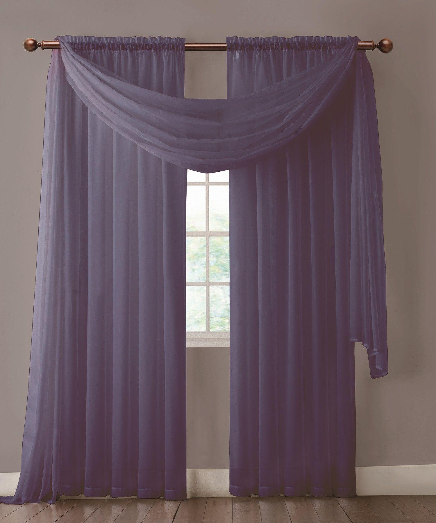 Warm Home Designs Pair Of Indigo Navy Blue Sheer Curtains Or