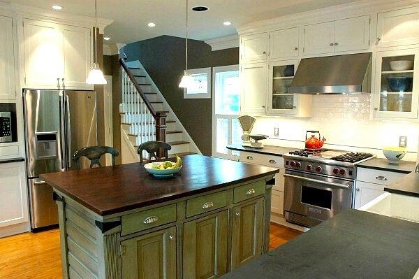 Green Kitchen Islands   Google Search