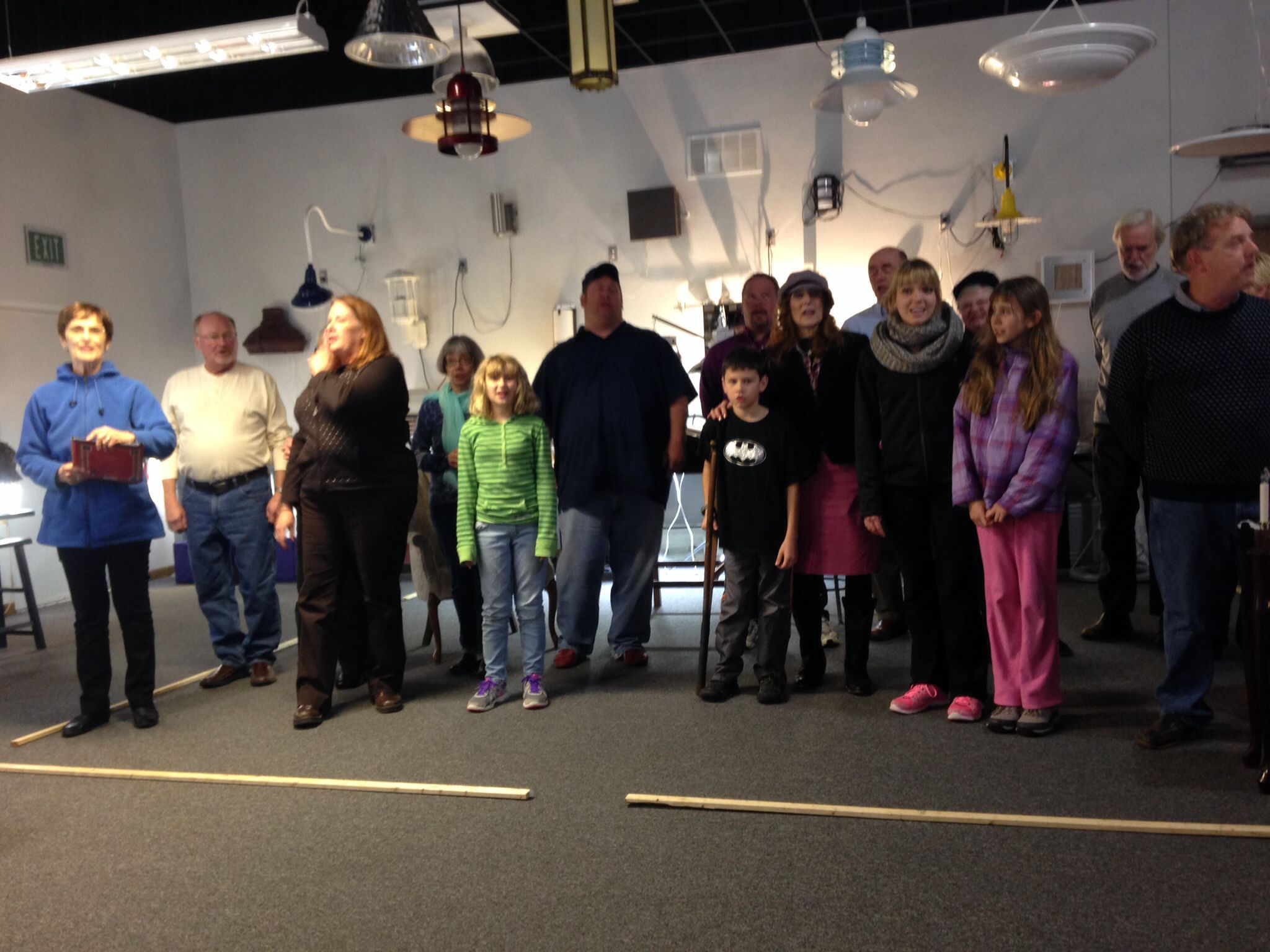 "The Daddy D cast is busy rehearsing ""A Christmas Carol"
