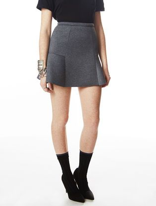 Jupe courte Highlight Rea Rea Gris Chine #asapparis #asap #paris #street #fashion #trend #skirt #grey #grischine #neoprene
