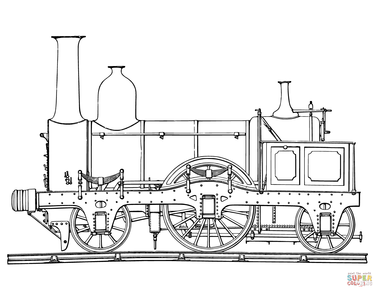 Steam Train Coloring Page Free Printable Coloring Pages Train Coloring Pages Train Drawing Steam Trains