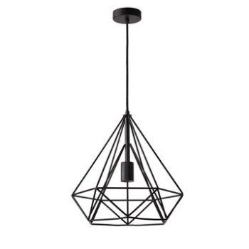 Suspension, e27 design Byron métal noir 1 x 60 W INSPIRE ...