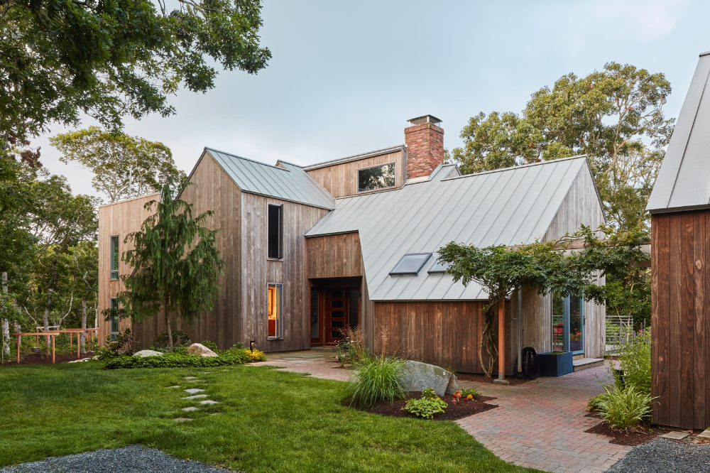 Morris Island Residence By Monte French Design Studio Dwell In 2020 Cape Cod House House Styles Metal Roof