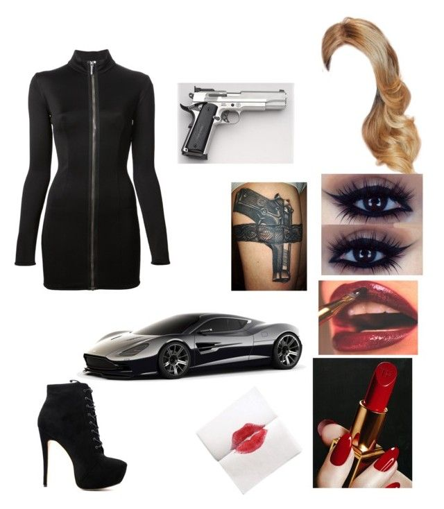 """""""Random#90"""" by kkemblue ❤ liked on Polyvore featuring Anthony Vaccarello, Aston Martin and Smith & Wesson"""