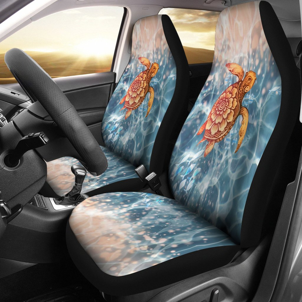Hawaiian Car Seat Covers >> Turtle Hawaiian Car Seat Covers Set Of 2 Universal Fit