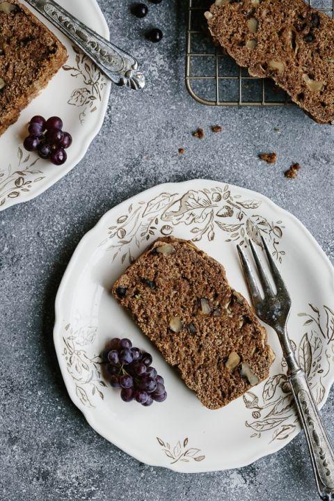 Vegan Zucchini and Walnut Bread