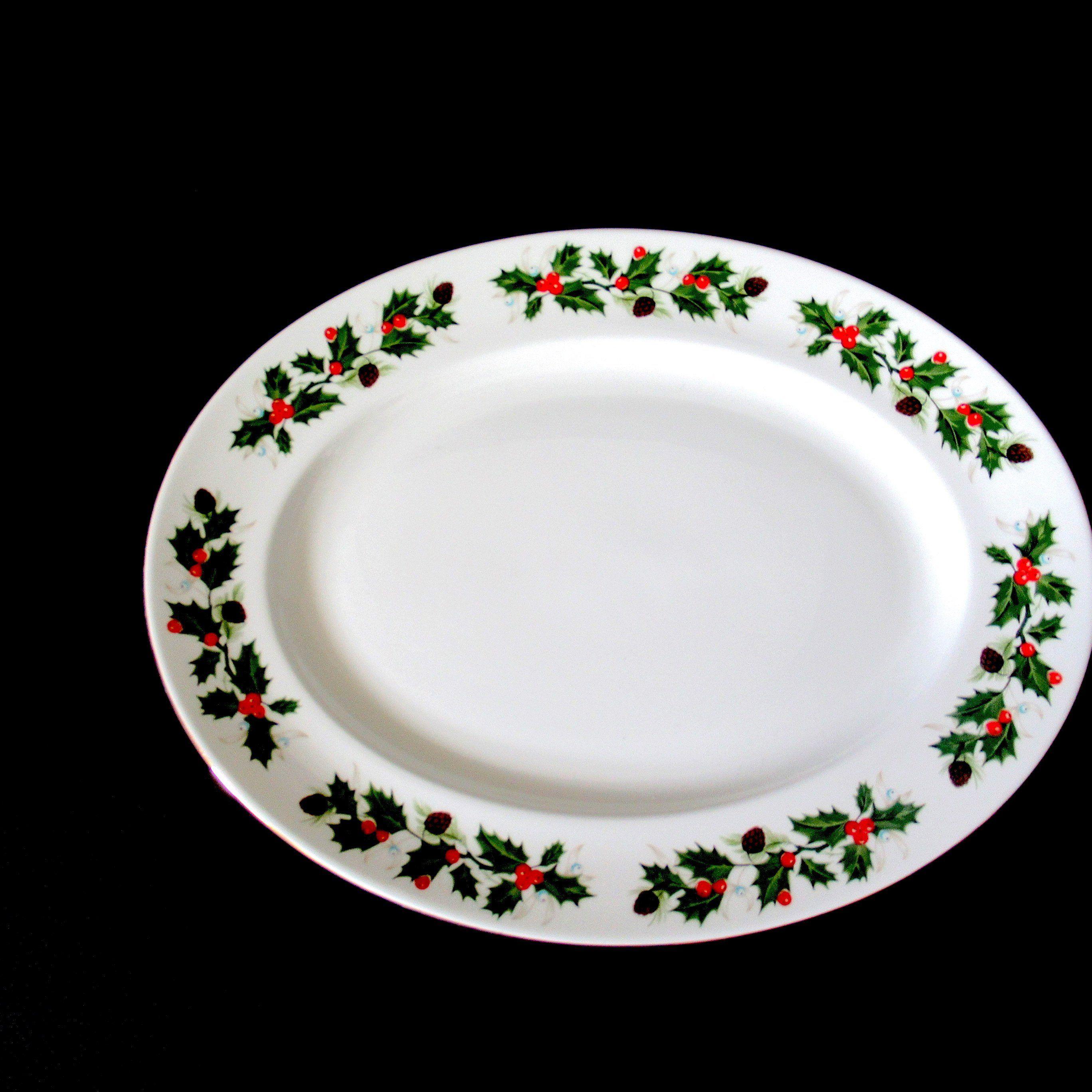 Vintage English Christmas Platter