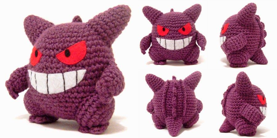 i crochet things: Pattern: Gengar Amigurumi | pokemon crochet ...