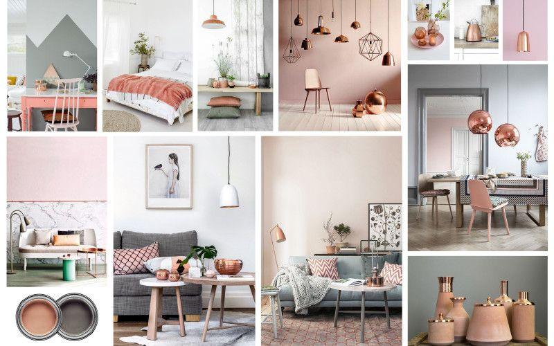 white grey copper interior design google search - Copper In Interior Design