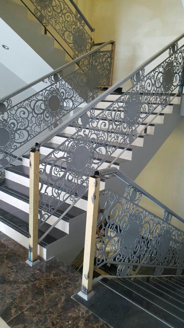 Handrails Stairs Modernwork Lasermetal Lifestyle Riyadh Stair Handrail Stair Paneling Stair Railing