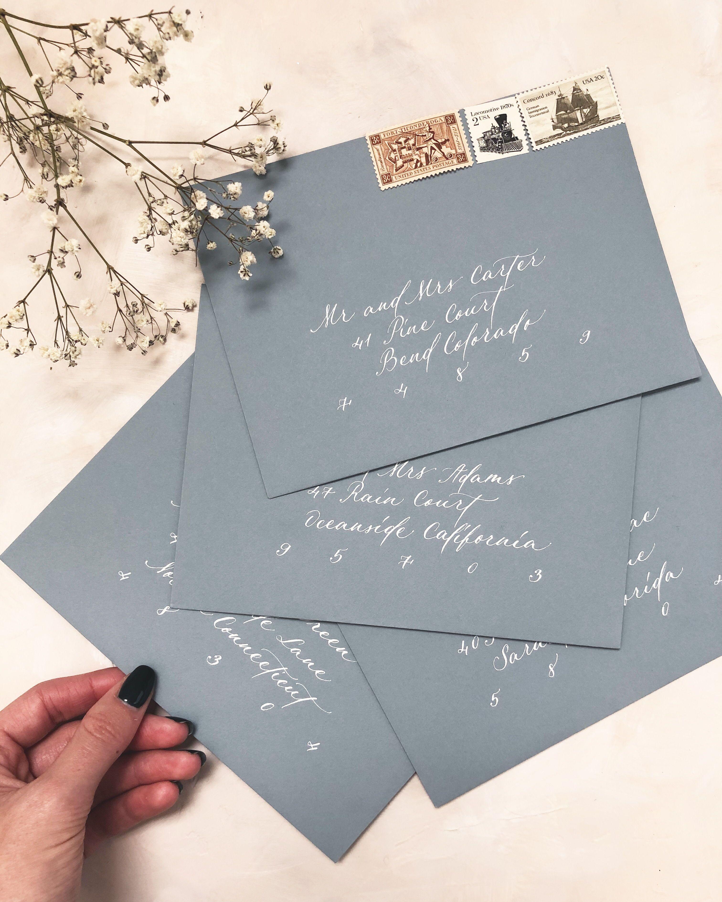Dusty Blue Wedding Invitations In 2020 Blue Wedding Invitations Wedding Invitations Vintage Wedding Invitations