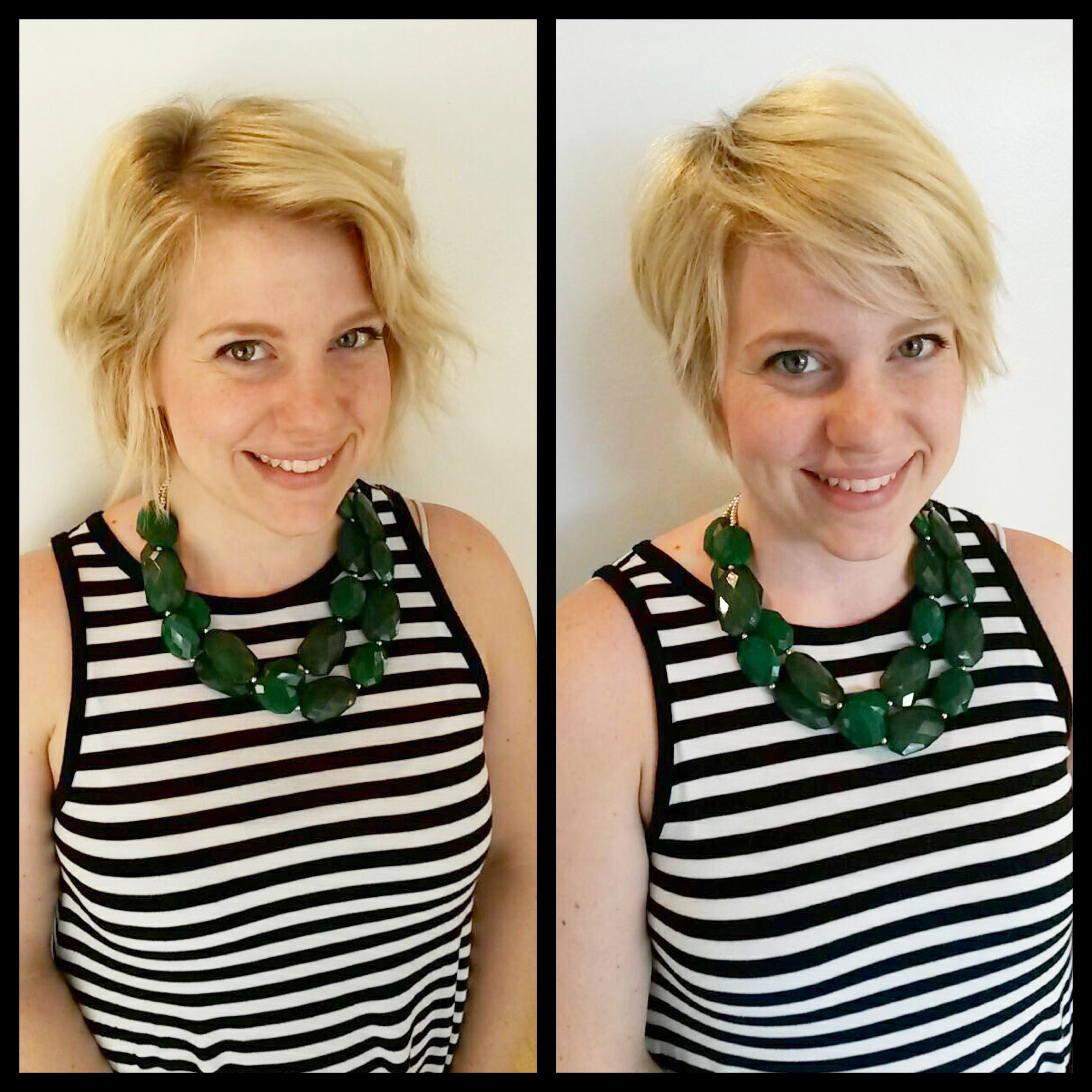 Before And After Pixiecut Beforeandafter Blonde Haircut Pixie