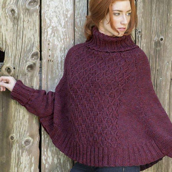 Galilee Poncho for Women, S-3X (K) in 2020 | Crochet ...
