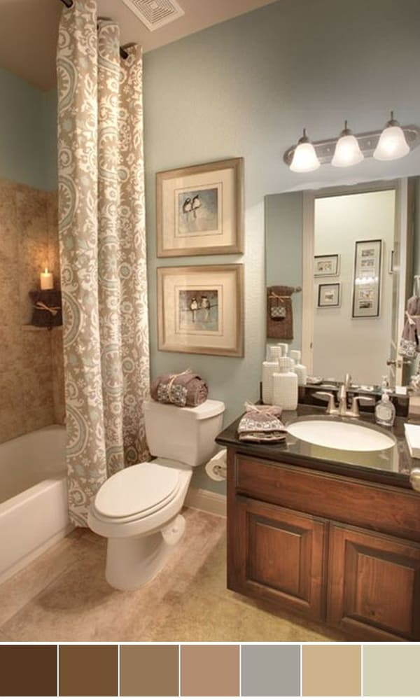 111 World S Best Bathroom Color Schemes For Your Home Homesthetics Inspiring Ideas For Your Home Bathroom Color Schemes Bathroom Wall Colors Bathroom Color