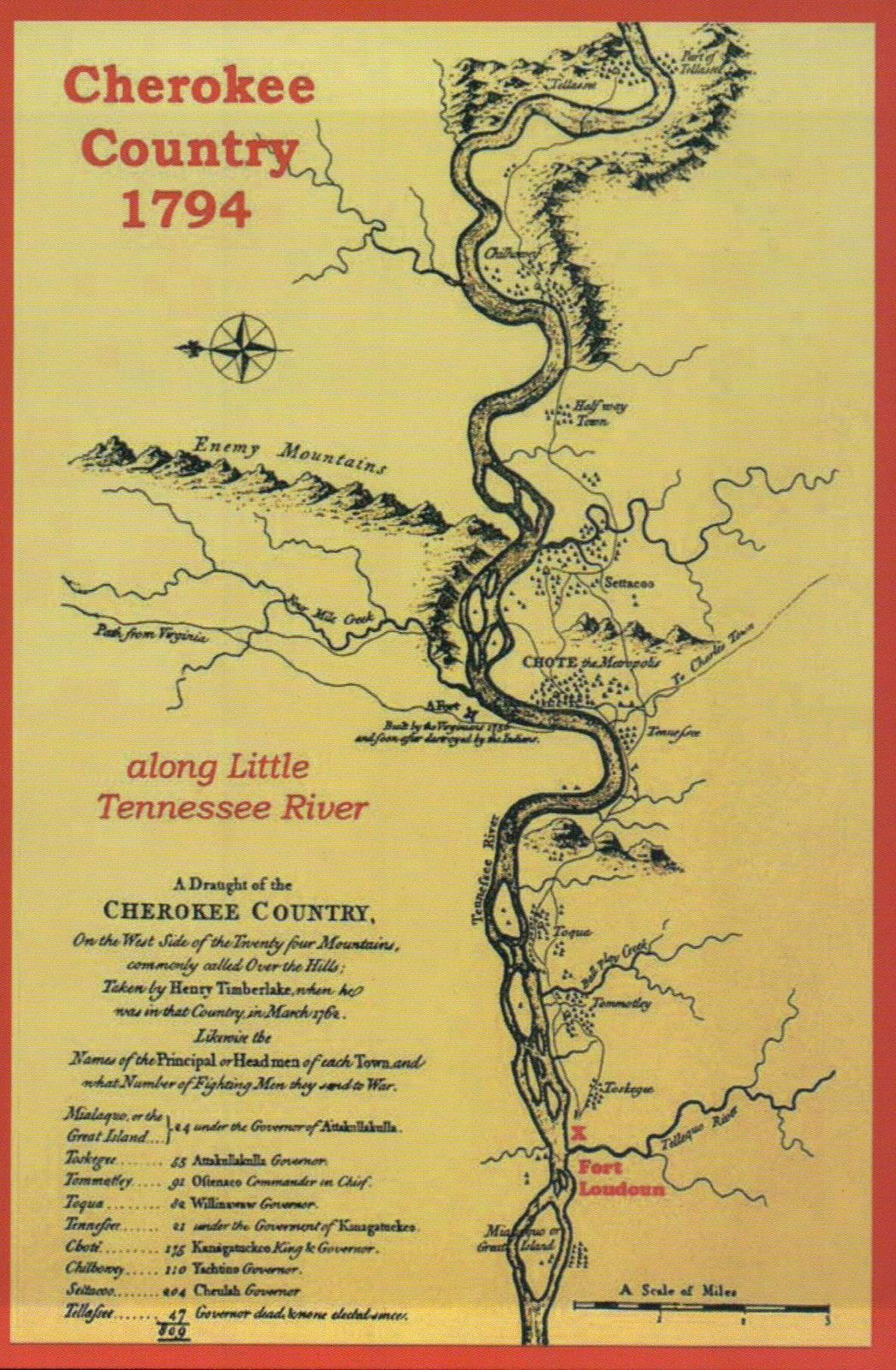 Cherokee Country Little Tennessee River Native