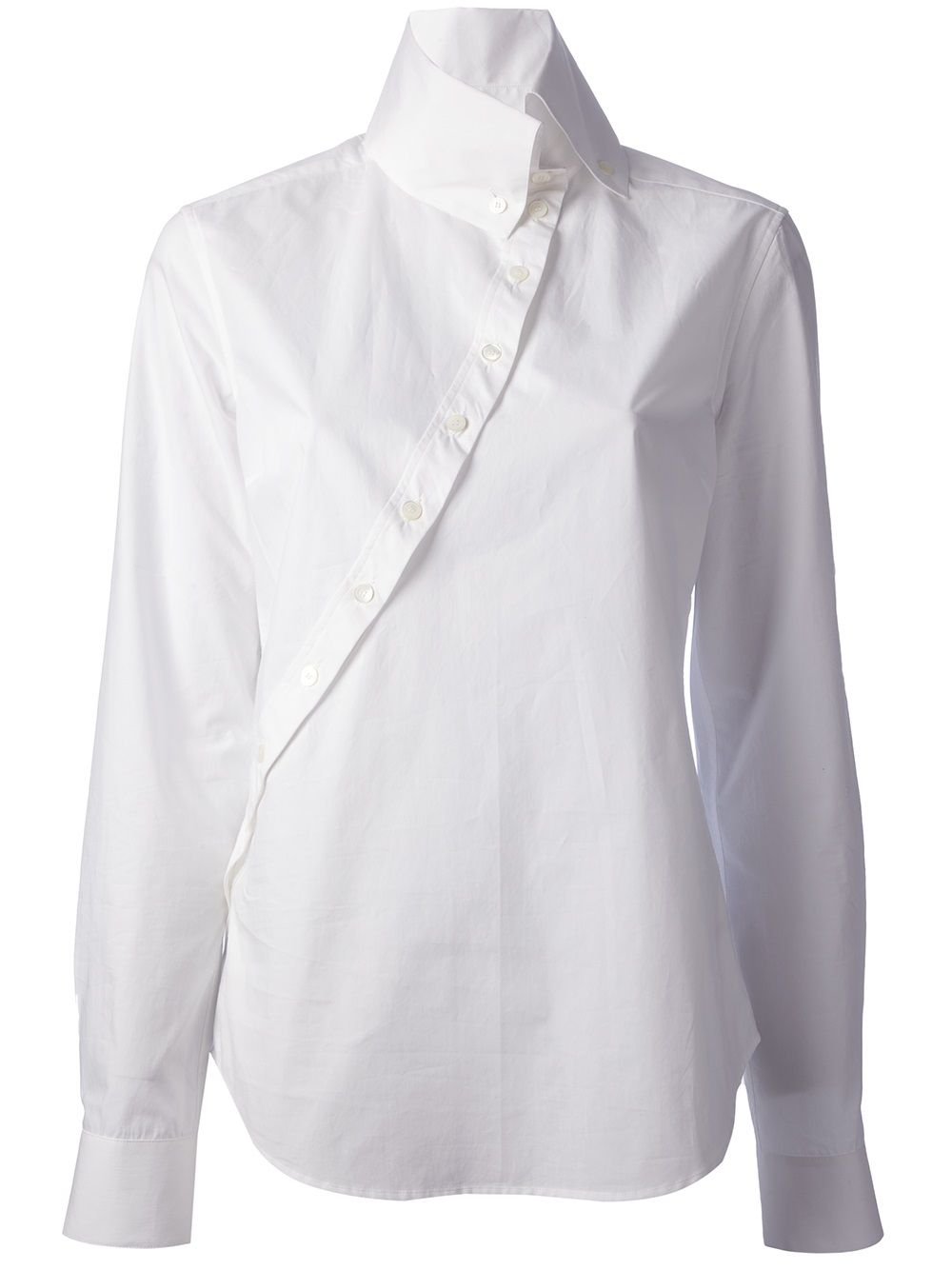 47a46eda25 Mcq By Alexander Mcqueen Asymmetric Button-front Shirt   Curve via Farfetch.com