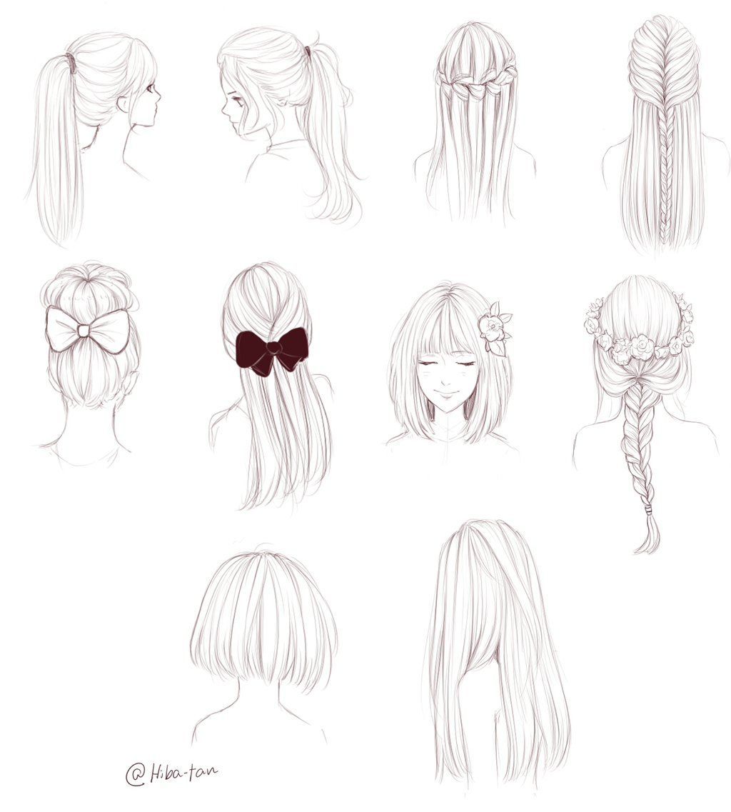 Photo of Hair doodles by Hiba-tan on DeviantArt