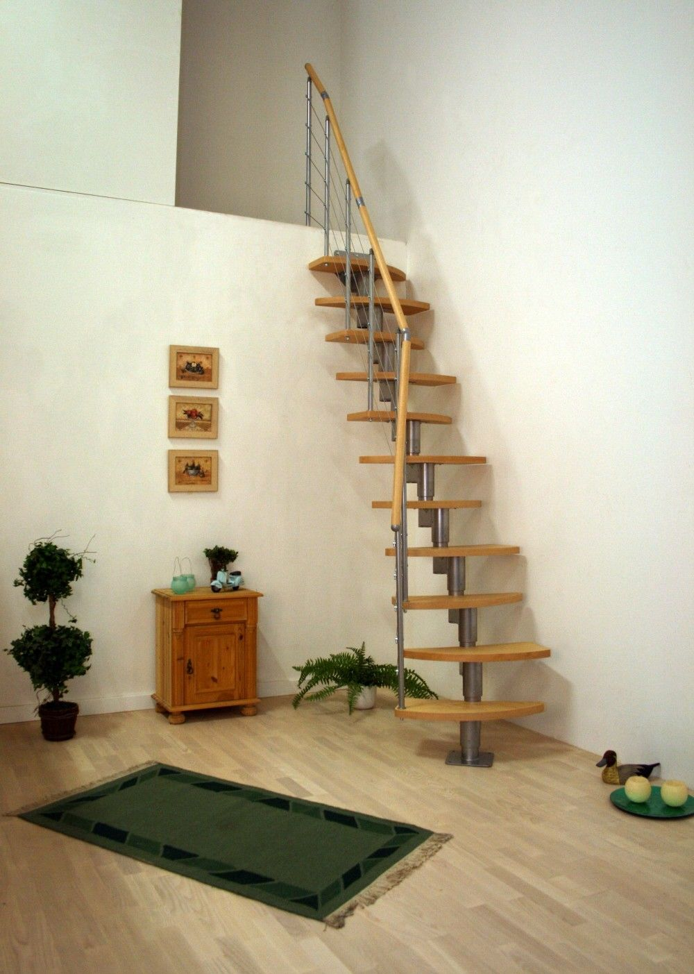 Space saving loft stairs loft centre for the home pinterest loft stairs stair kits and - Small loft space model ...