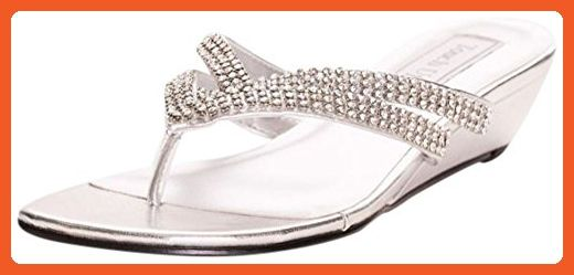 e203cc603 Tango Low Wedge Crystal Sandals Style 4052