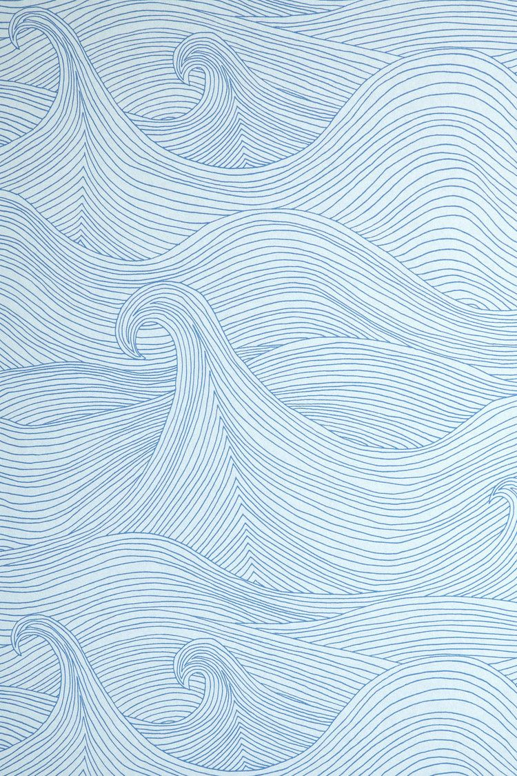 Seascape Wallpaper: Summer — Abigail Edwards | Hand drawn wallpapers, fabrics and accessories