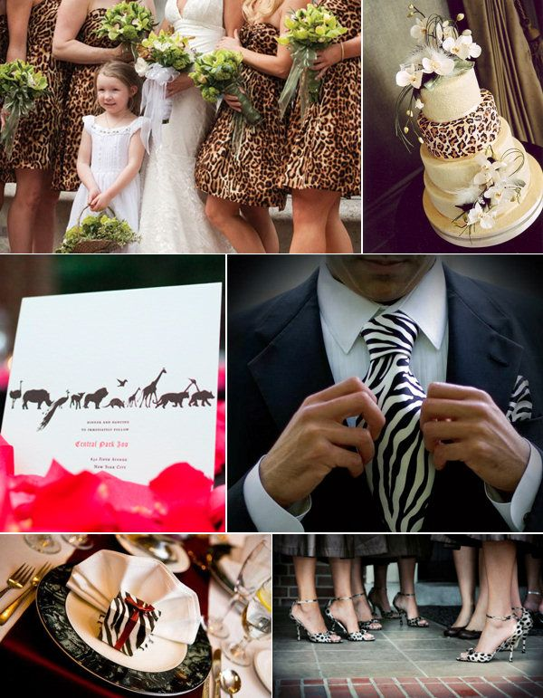 Animal Print Zoo Wedding Inspiration  @Rhiannon Dunn Dunn Steeves i thought of you when i saw this for some reason :) congrats btw