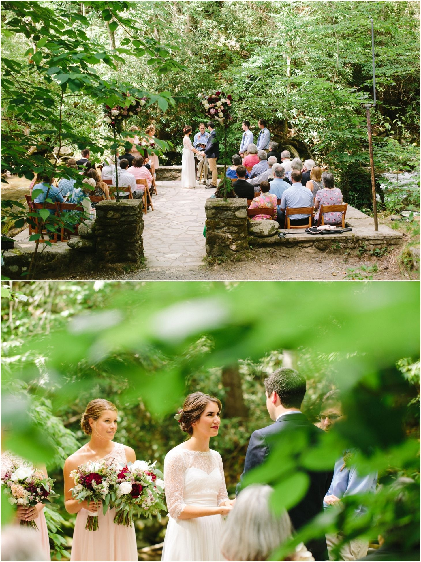 Spence Cabin Wedding Pictures In Elkmont In The Great