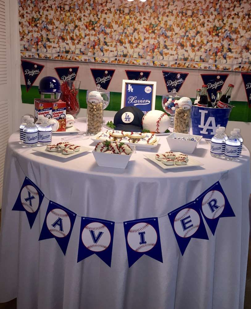 Los Angeles Dodgers Birthday Party Ideas  Photo 7 of 70  Dodgers