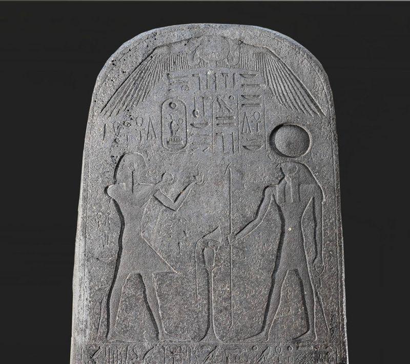 Victory stela of Seti I erected at Beth Shean, 13th century BCE ...