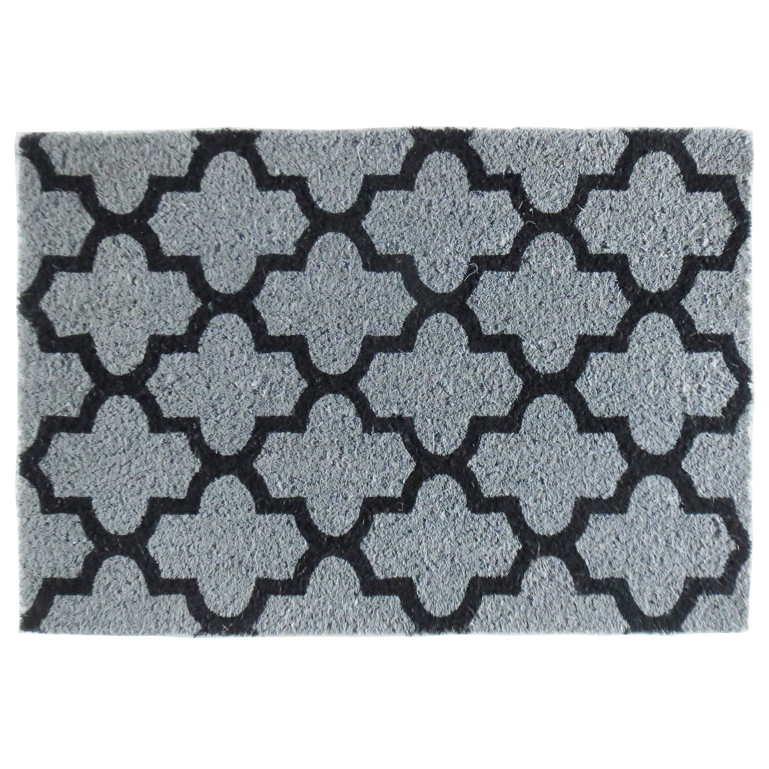 Paillasson Coco Gris L 40 Cm X L 60 Cm X Ep 15 Mm Design Ciment No Name Paillasson Ciment Et Design