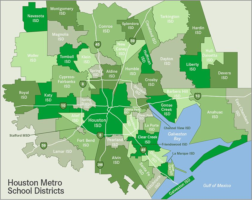 Houston & surrounding areas School District map | MAPS - Houston ...