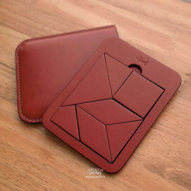 Heritage by Huns 2015. Euclid's puzzle. #Euclid #puzzle #leather