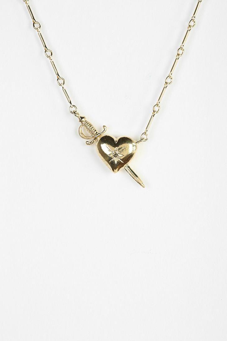 Elizabeth Knight Slain Heart Necklace #urbanoutfitters