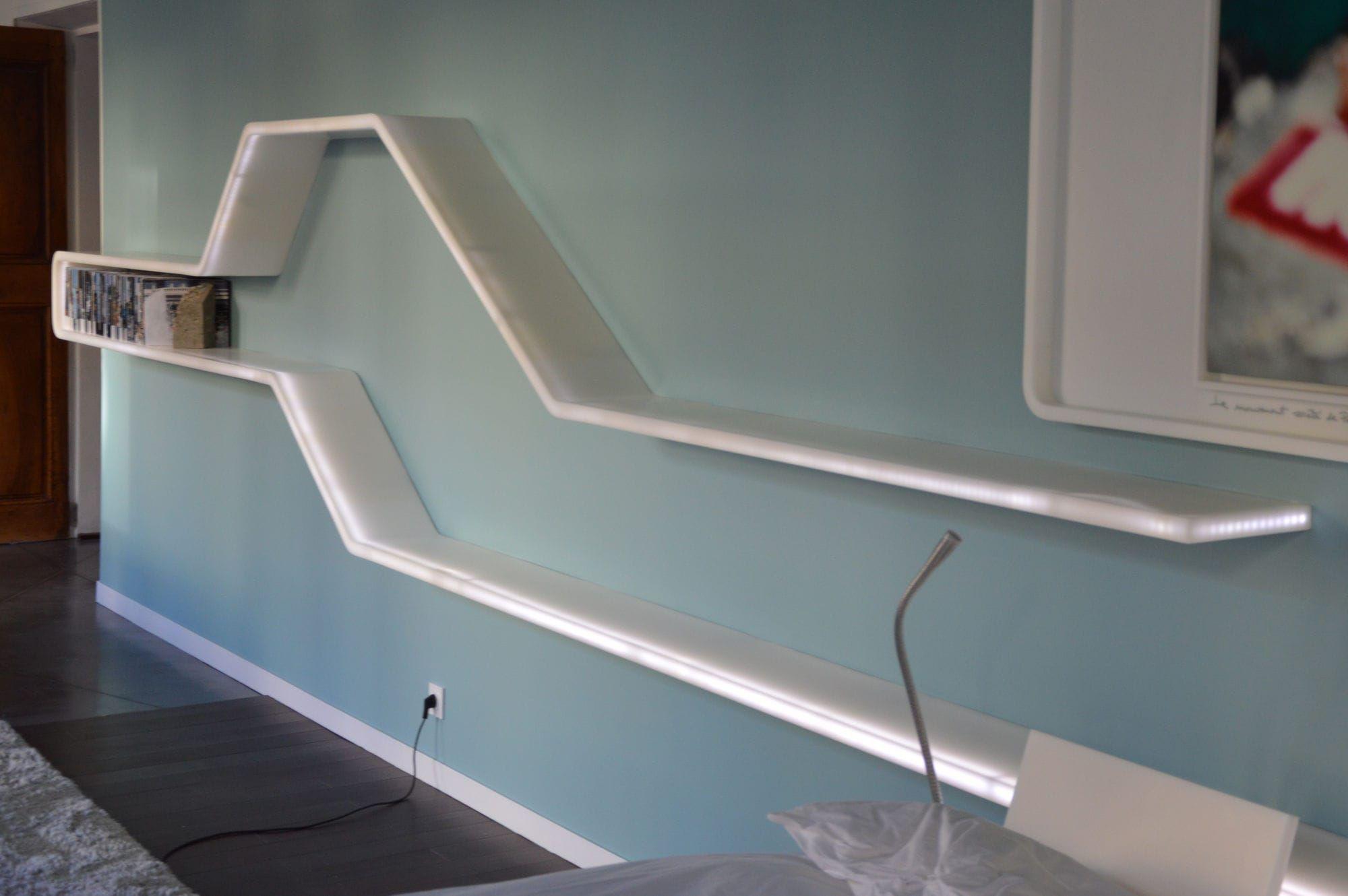 wall mounted shelf contemporary solid surface with indirect lighting v korr r sine de. Black Bedroom Furniture Sets. Home Design Ideas