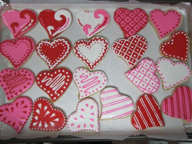 Folk Heart Valentine S Day Cookies Lemon Shortbread Cookies With Lemon Royal Icing Valentine S Day Sugar Cookies Valentines Bakery Valentine Cookies