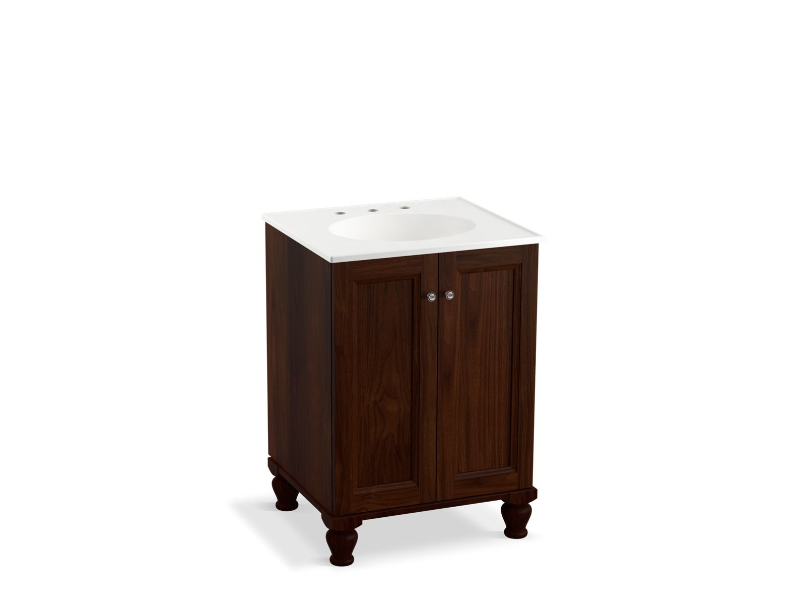 24 Inch Bathroom Vanity With Legs k-99513-lg | damask 24-inch vanity with legs, 2 doors | kohler