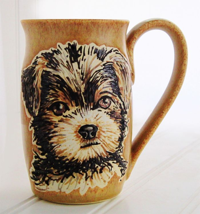 Dog Portrait Mug-https://www.etsy.com/shop/SusanAltenauPottery?ref=listing-shop-header-item-count